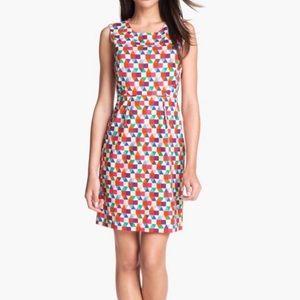Kate Spade Abbey bright geometric sheath dress
